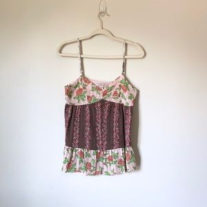 Free People floral Tank Top